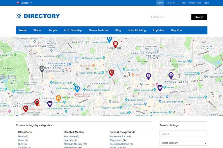 WordPress Directory Theme - Directory